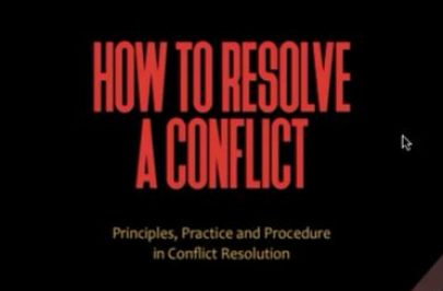 How to Resolve A Conflict